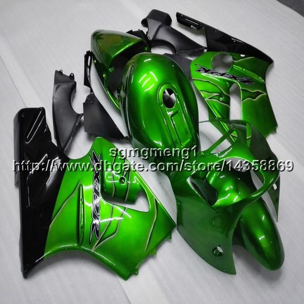 Botsa + Hediyeler Için Enjeksiyon kalıp yeşil motosiklet Fairing Kawasaki Ninja zx-12r 00-01 ZX 12R 2001 2000 Motosiklet panelleri