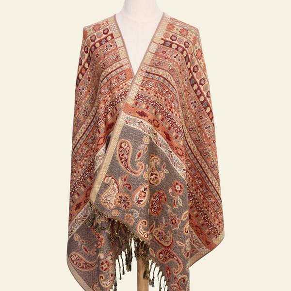 بيزلي اللفاع من الهند الشتاء وشاح والأوشحة العرقية أزياء سرق القطن الهندي Echarpe 190 * 70 سم