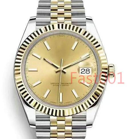 Luxury Gold Mens Watch 41mm Stainless Steel Fashion Men Date 2813 Mechanical Automatic Movement Just Designer Men's Watches Wristwatches