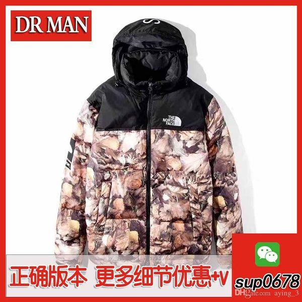 Nuevo invierno chaqueta chaqueta de los hombres del caballo de hoja caduca abajo engrosada 1: 1 de alta calidad de la chaqueta del algodón de Down