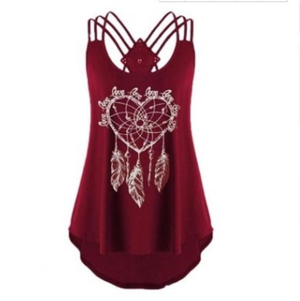 La versión suelta de cuello redondo de verano de la costura de impresión de camiseta superior tiene un cuerpo XL lleno de fabricantes favoritos al por mayor