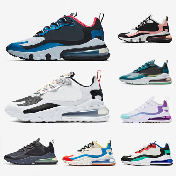 Acheter Nike Air Max 270 React Airmax Shoes Travis Scott Violet BAUHAUS React Chaussures De Course Pour Homme Gris Electro Vert OPTICAL Formateur De