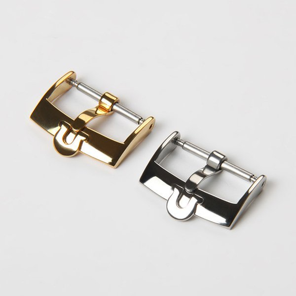 top popular Fashion brand watch buckle Omega butterfly replacement 316 stainless steel steel strap buckle 16 18 20mm 2020