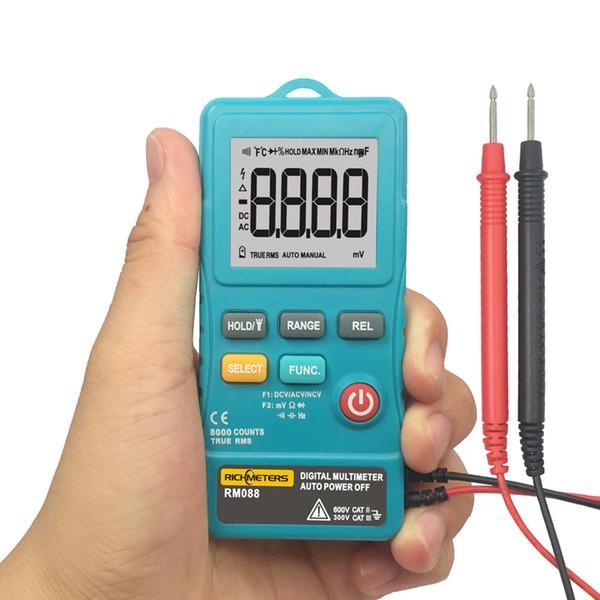 RM088 Mini Digital Multimeter 8000 counts Line Frequency True-RMS Flash light AC/DC Voltage Ohm