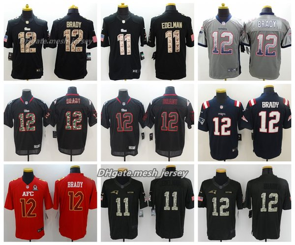 san francisco cf945 32a97 2019 Men New Jersey Patriots 12 Tom Brady 11 Julian Edelman Color Rush  Football Stitching Jerseys Embroidery From Great_jersey01, $21.32 |  DHgate.Com