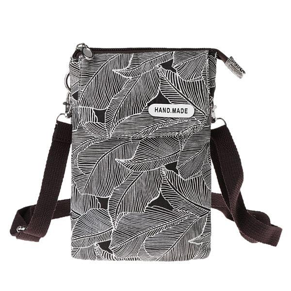 Designer THINKTHENDO Canvas Crossbody Bags for Women Girl 2019 Mobile Phone Small Shoulder Bag Pouch Case Purse Wallet Portable Mini Bags