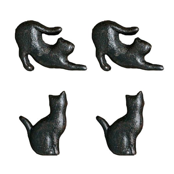 top popular 2 Pair Creative Cat Design Cupboard Drawer Knob Kitchen Cabinet Door Pull Wardrobe Cast Iron Handles Kids Dresser Knobs 2021