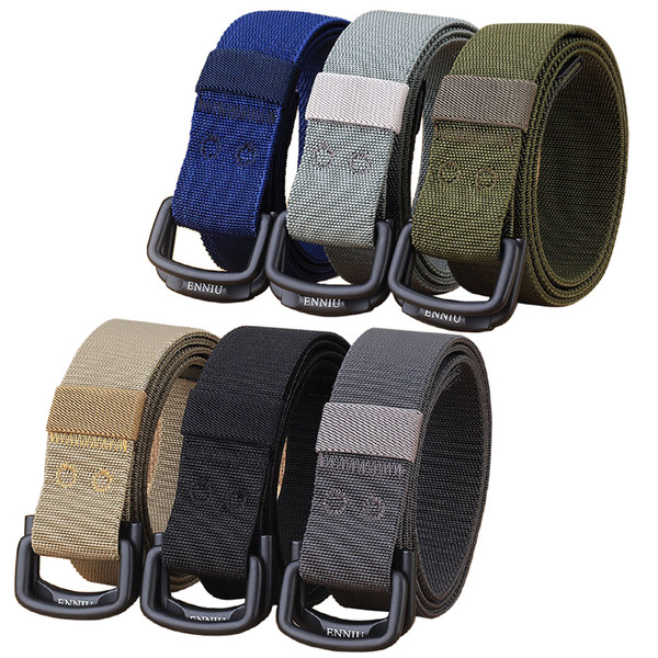 2 pack adjustable men tactical belt women waist belts 47.2 inch webbing belt for hunting camping daily casual waist support thumbnail