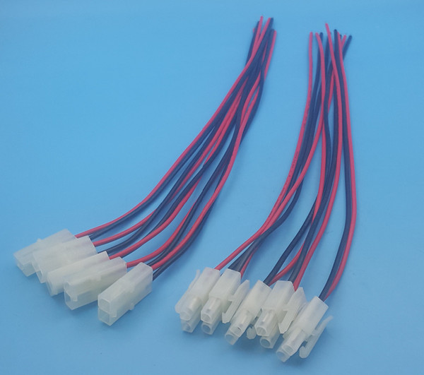 Free Shipping 50Pairs Male and Female 2Pin 20AWG L6.2-2P Tamiya 30cm Wire Connectors