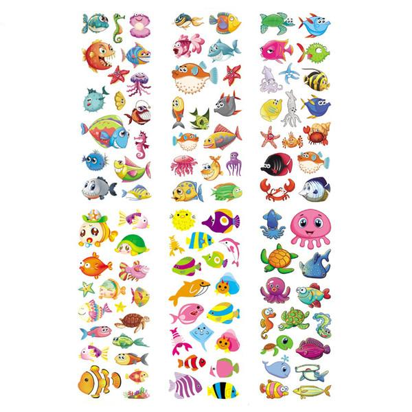 100 Feuilles Océan Vie Sauvage Animaux Aquatiques Créatures Scrapbooking Bulles Autocollants Emoji Récompense Enfants Jouets Usine Ventes Directes