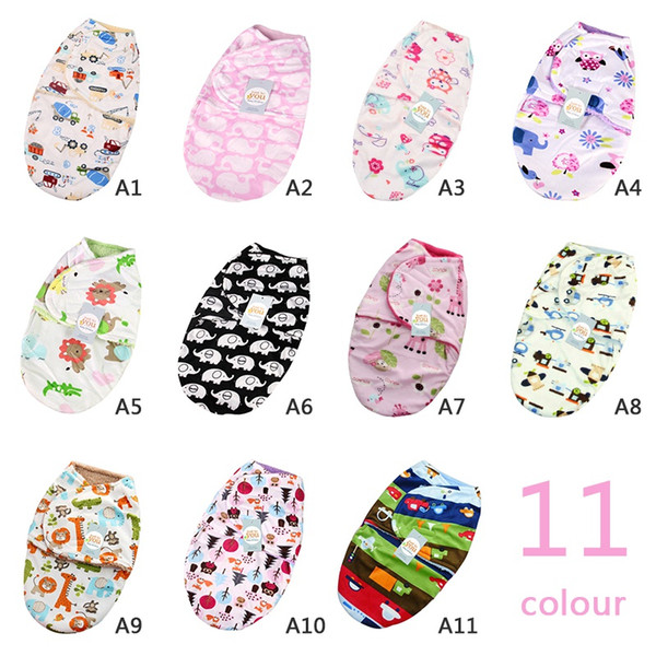 Baby Swaddle Wrap Soft Baby Blankets Infant Sleeping Bag Warm Bedding Blanket For 0-12M