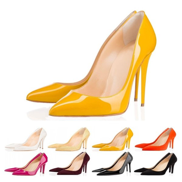 size 35-42 Designer Dress Shoes So Kate Styles High Heels Shoes Red Bottoms Luxury 8CM 10CM 12CM Genuine Leather Pointed Toe Pumps Rubber