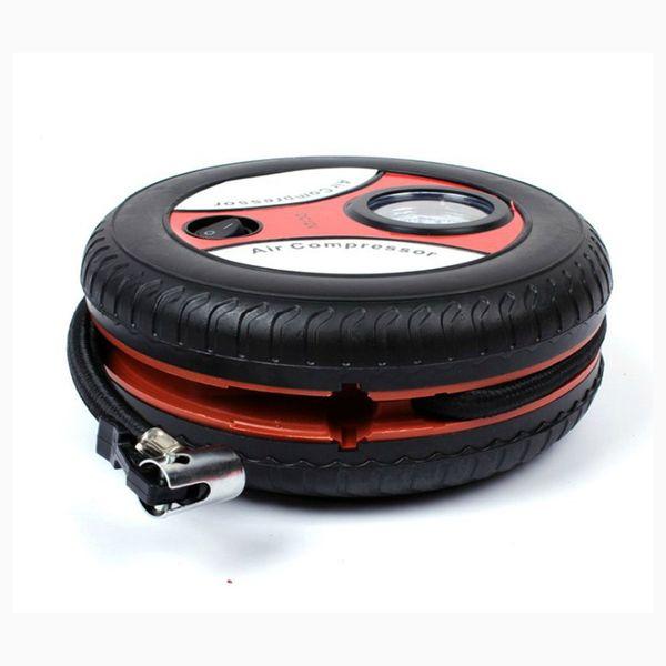 Pompa Monitor auto Mini gonfiabile pompa DC12V metallo plastica elettrico compressore d'aria con 3 adattatori dell'ugello