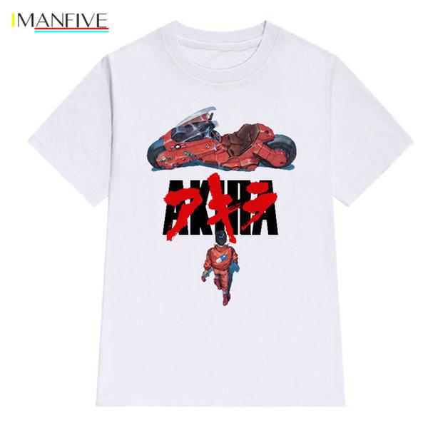 IMANFIVE Akira Synthwave T-Shirt Men Short Sleeve Summer Fashion Tshirt Casual White T Shirt Cotton Fashion Tee Shirt O-Neck