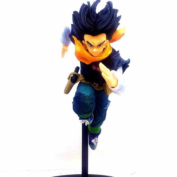 Japanese Anime Dragon Ball Android 17 Lapis BWFC PVC Figure Model Toys 18cm