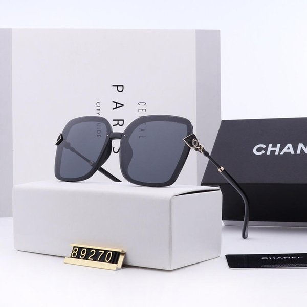2019 Nouvel été Lunettes de soleil en verre de style européen et américain semi-montées de lunettes de soleil de protection UV pour femmes