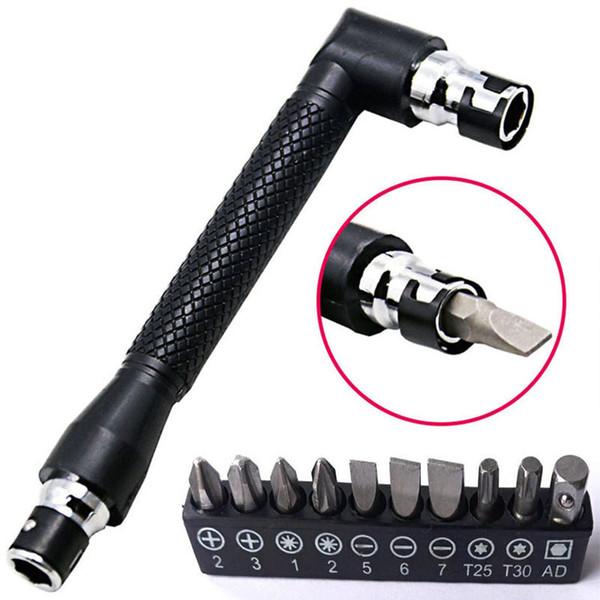 """top popular Dual Head L-shaped Mini Socket Wrench 1 4"""" 6.35mm Screwdriver Bits Key Utility Tool And Screwdriver Bit Drill Set 2021"""