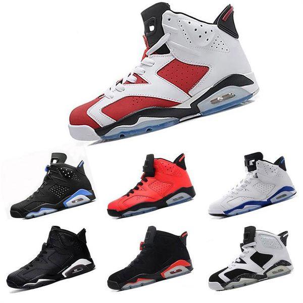 New Bred 6 6s Mens Basketball Shoes Tinker UNC Black Cat Infrared White Carmine Men fashion luxury mens women designer sandals shoes