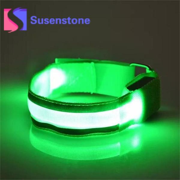 1 stück Nylon Armbänder Nacht Reflektierende Armband LED Armband Mode Unisex Glow Wrist Band Armreif Armreif Für Erwachsene Kinder