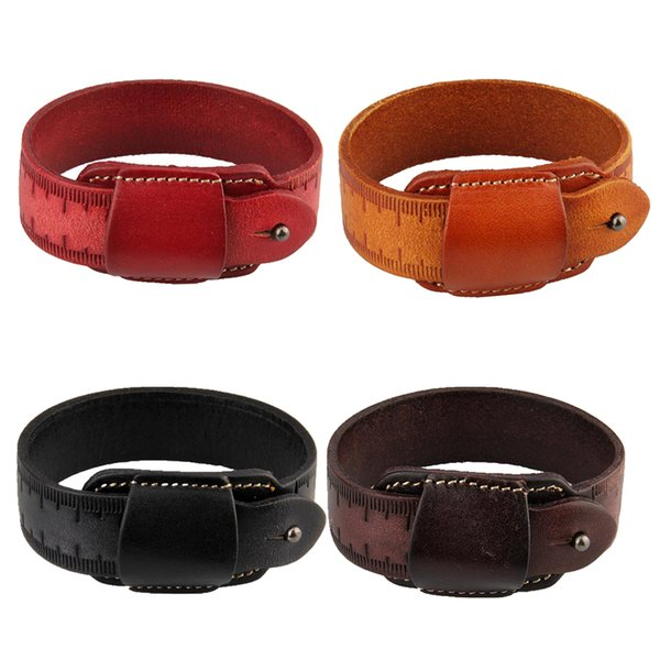 Unique Règle Design Femmes Hommes PU Bracelet En Cuir Bracelet Bracelet Poignet Bande