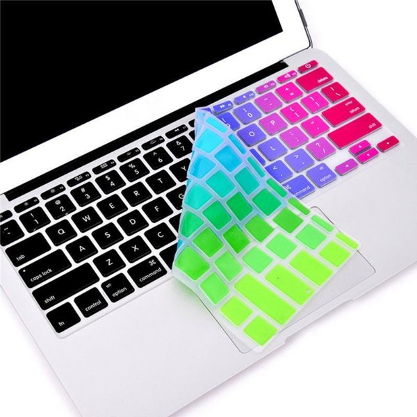 """For Apple/macbook Keyboard Cover 13"""" 15"""" Rainbow Laptop Us Keyboard Stickers And Silicone Skin Protector Version Covers T190619"""