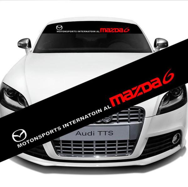 Front Rear Windshield Exterior Banner Decal Car Sticker For Motorsport Mazda 6