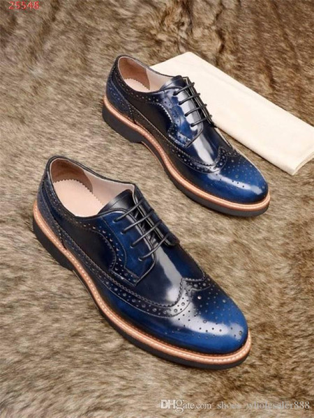 Latest Low-key Costly Men With Air holes Leather Shoes Imported Cowhide Fabric Leather Outsole Men Business Etiquette Shoes