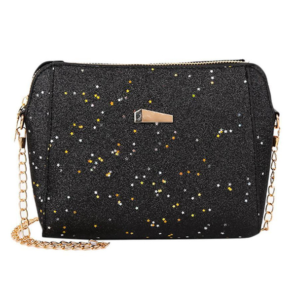 Cheap Fashion Womens Fashion Sequins Crossbody Bag Pure Color Shoulder Bags Messenger BagHigh Quality Bag MAY15 MAY10
