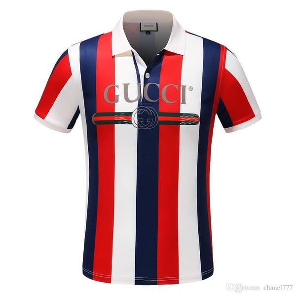 New polo t shirts men poloshirt shirt High street men's polo tops Asian Size M-3XL