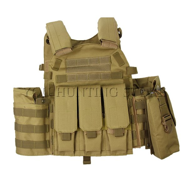 4 colors men's tactical vest 600d oxford swat vest field battle molle combat assault plate carrier hunting thumbnail