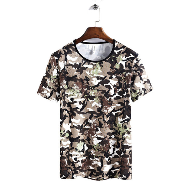 MANLI 2019 Men Fashion New Summer Camouflage Mens T-shirt Outdoor Sport Short Sleeve Men's Slim Fit Breathable Men T-shirt's
