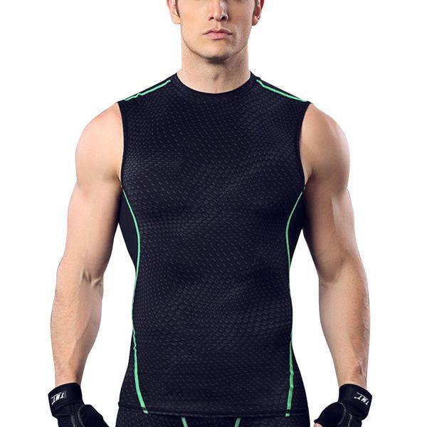 High Elastic Quick Dry Compress Tank Tops Men Profession Fitness Athletic Running Sports Vest Summer Slim Training Vests T-shirt