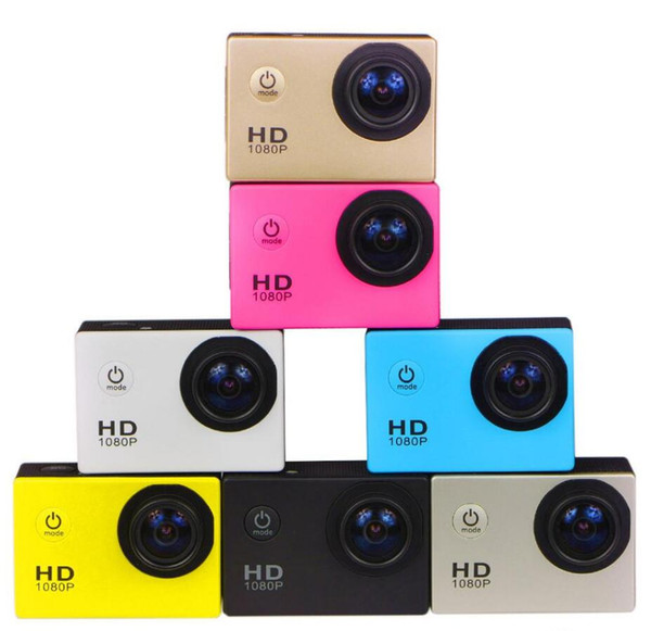top popular Free send DHL- New freestyle 2inch LCD 1080P Full action camera 30 meters waterproof DV camera sports helmet SJcam DVR0001 2020