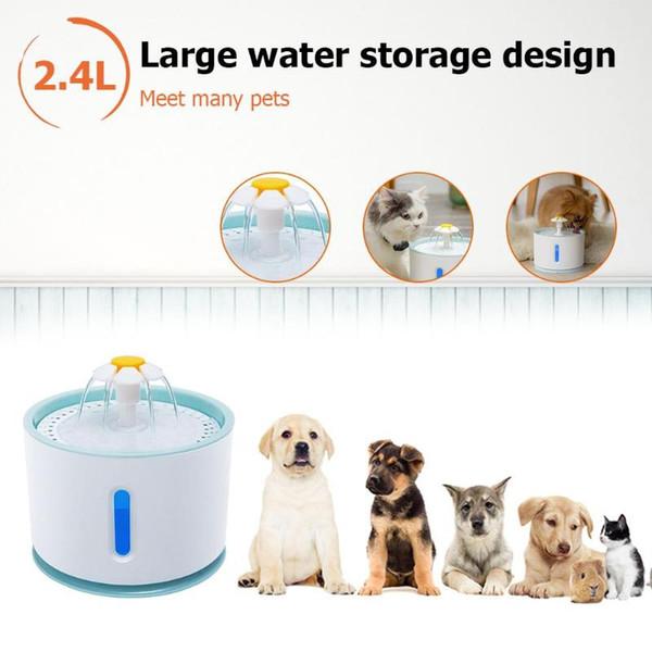 2.4L Otomatik Köpek Kedi Su Çeşme Pet USB Elektrikli Pet Dağıtıcı İçme Filtre Kase Tiryakisi Besleyici
