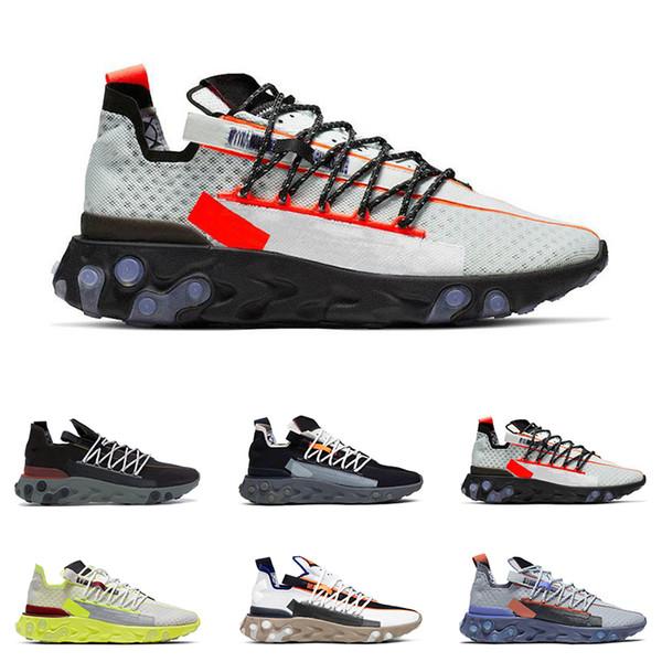 Acquista Nike React 2020 Nuovo Arrivo React WR ISPA Uomo Donna Scarpe Da Corsa Ghost Aqua Wolf Grigio Platino Volt Summit Bianco Sneaker Sportive Da