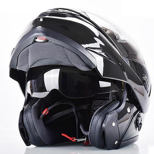 Kohlefaser, Helm, Doppelscheibe, Motorrad, Autobahn, Laufhelm, Winternebel.