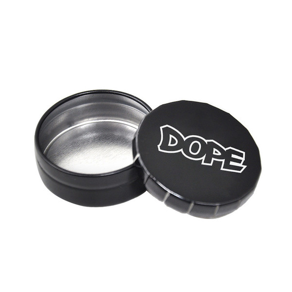 cheapest Metal Herb Tobacco Box Container Storage Stash Jar 25ML Herb Storage Case Cigarette Case Tea Metal Containers Pill Bottle Box