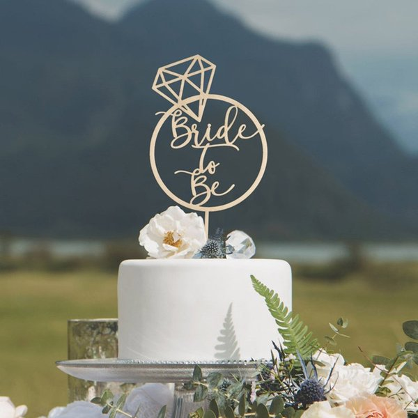 Rustic Bride to Be Engaged Cake Topper Wedding Bridal Shower Cake Topper Bridal Shower Decorations