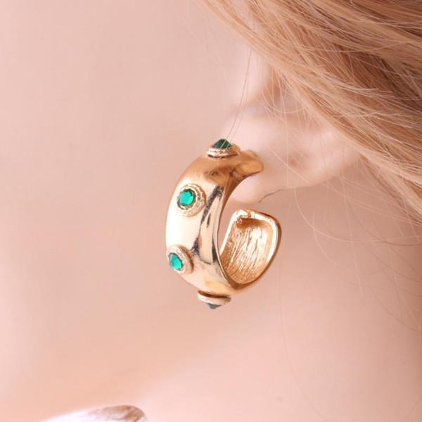 Zinc Alloy Gold Earring jewelry Metal Earrings ring for Woman Ear Ring Large Brinco Accessories Oorbellen Earrings