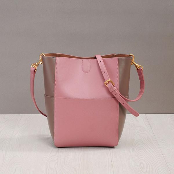 Luxueux2019 Largeur Zhenpi Xia Sangles Cartable Oblique Couleur Seau Correspondant Petit Frais Will Capacité Femme Paquet