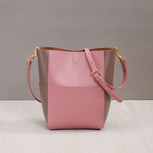 Luxurious2019 Larghezza Zhenpi Xia Straps Oblique Satchel Color Matching Secchio Small Fresh Will Capacity Pacchetto donna