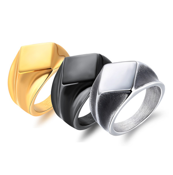 316 L Stainless Steel ring Hip Hop Rock Finger Ring top fashion rings high quality mix cheap wholesale VICHOK