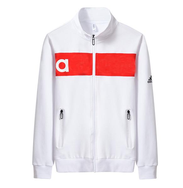 Mens Sweatshirt 2019 Spring New Brand Fashion Men Designer Luxury Long Sleeve Sport Print Stand Collar Fashion Jacket Sportwear Plus Size