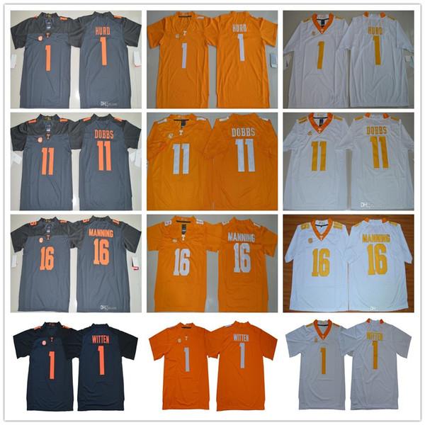 Теннесси добровольцев 16 Peyton Manning 1 Джейсон Виттена Jalen Hurd 11 Джошуа Доббс Оранжевый Серый Белый NCAA Американский футбол Джерси