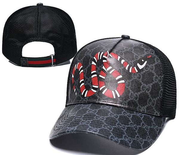 2019 Lüks Tasarımcı Yılan Kap Kaplanlar Snapback Beyzbol Kapaklar Eğlence Şapkalar Arı Snapbacks Şapkalar erkekler kadınlar için açık golf spor şapka casquette
