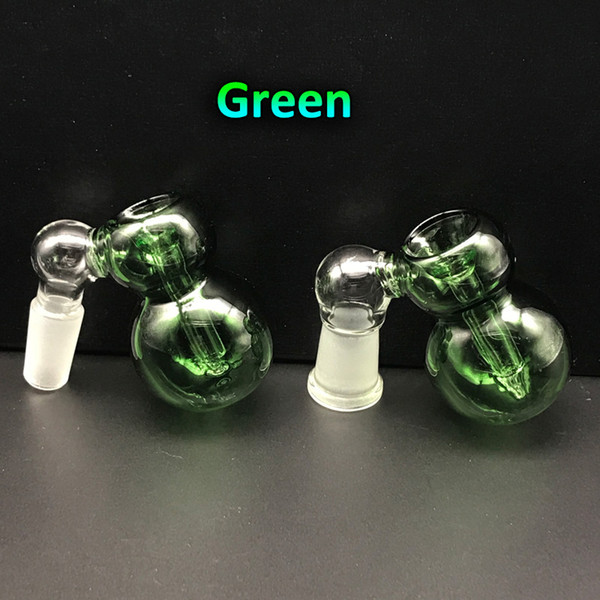 Mini Glass Ash Catcher Bowls 14mm 18mm Male Female Joints three colors Glass Ash Catcher for Oil Rigs Glass Bongs