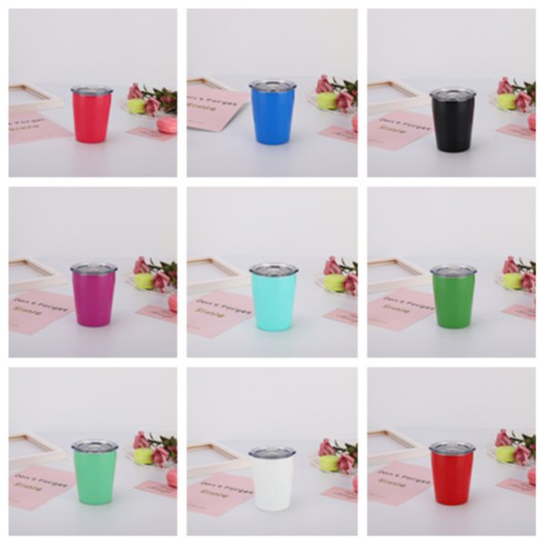 new Kids Cup Stainless Steel tumbler Vacuum Insulated Double Wall Coffee Mug Portable Outdoor Travel beer cup drinking cups T2I5293