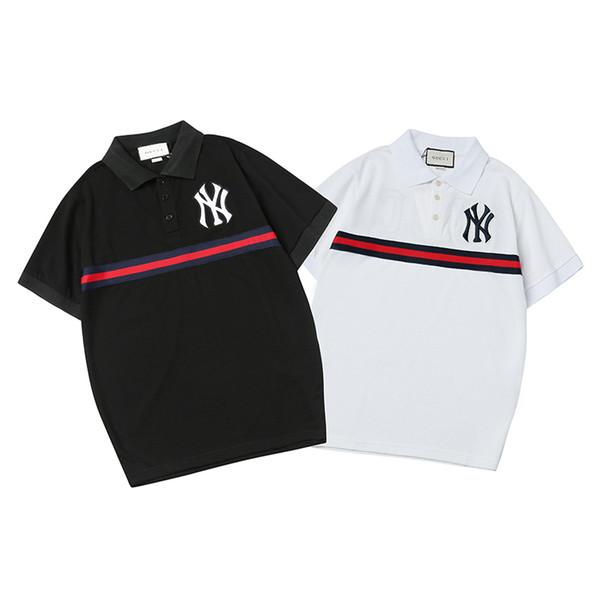 4658f0e2 Men's Polo T Shirt Men Brand Polos Striped Colors Casual Men's Polo Mens  2019 Summer T
