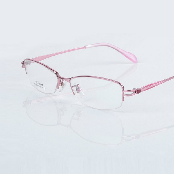 -138 women glass frame for ladies ultra light titanium half rim optical prescription Myopia female reading glasses eyewear frame