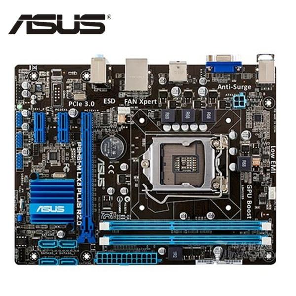 ASUS P8H61 M LX Ursprüngliches ASUS P8H61-M LX3 PLUS R2.0 Motherboard Sockel LGA 1155 UATX DDR3 DVI VGA USB2.0 16GB Desktop Mainboard